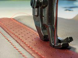 aircraft seat stitching